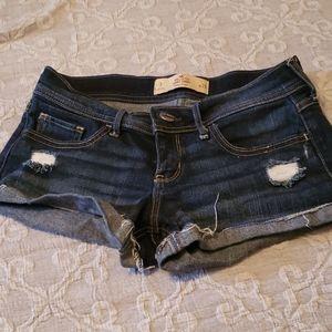 Hollister short short low rise shorts size 3